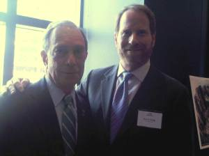 Mayor Michael Bloomberg and Kent Swig