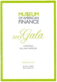 museum of american finance 20013 Gala Kent Swig