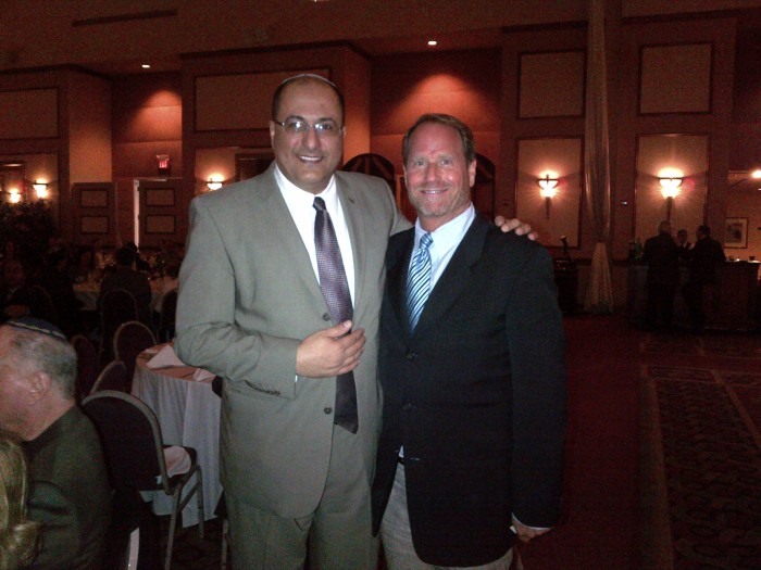 Ambassador Ido Aharoni-NY General Counsel from Israel (left) and Kent Swig (right)