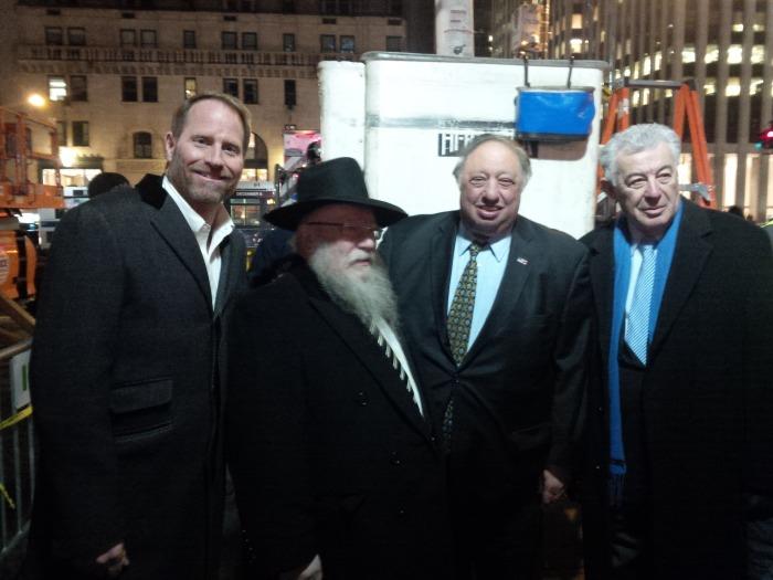 Lighting the Chanukah Menorah in New York City (2013)