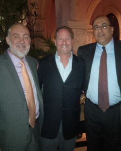 From left to right: Israel's Permanent Representative to the United Nation, Ambassador Ron Prosor, Kent Swig, Israel's Consul General to New York City, Ambassador Ido Aharoni.