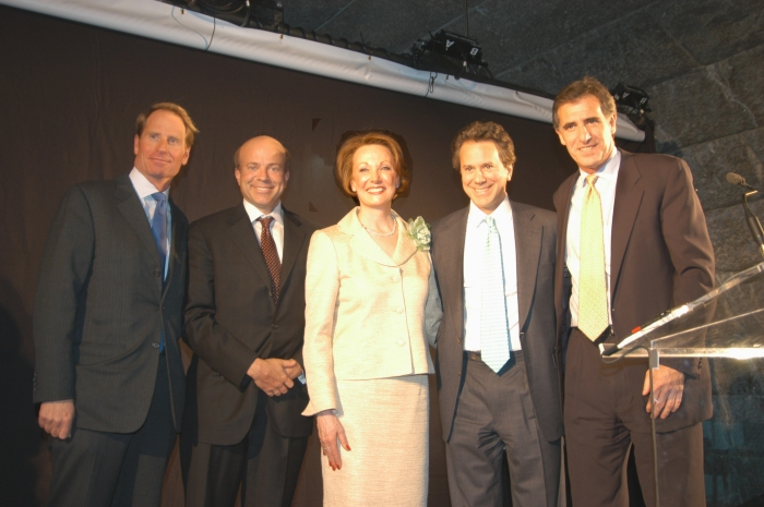 From left to right: Kent Swig, Arthur Zeckendorf, Diane Ramirez, Will Zeckendorf, David Burris