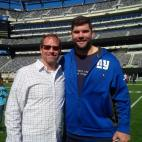 From left to right: Kent Swig and Justin Pugh, offensive tackle for the NY Giants