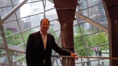 Kent Swig in front of Trident Steel Beams