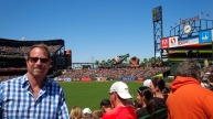 Giants baseball game at At & T, San Francisco