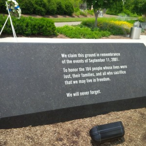 911 Memorial at the Pentagon