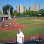 Kent Swig at the New York City Championship Middle School baseball game