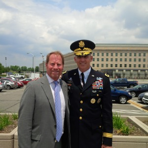 Kent Swig with Lt. General Michael S. Linnington, US Army, at the Pentagon.