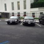 President Obama's motorcade