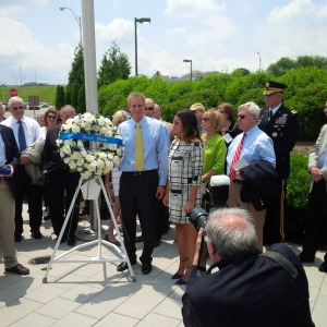 Wreath ceremony at the 911 Memorial at the Pentagon