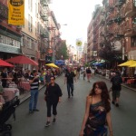 Little Italy's street fair on a cool summer day.