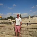 Kent Swig overlooking the Western Wall in the Old City of Jerusalem.
