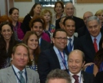 Kent Swig with Prime Minister Benjamin Netanyahu (on right with red tie).