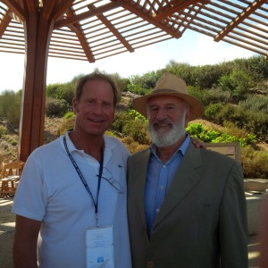 Kent Swig with Martin Weill, creator of the Ariel Sharon Park and the Hiriya Recycling Park