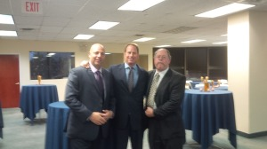 From left to right: Eric Harris, property manager for Swig Equities; Kent Swig, President of Swig Equities; David Sargoy, Director, Brown Harris Stevens Commercial Services of Long Island.