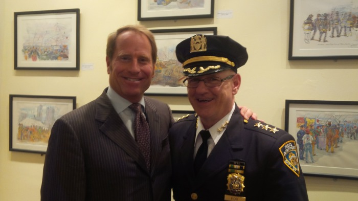 Kent Swig with Captain John Fox of the New York Police Department