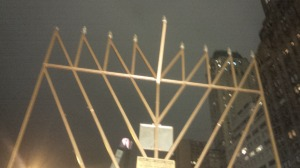 Chanukah Menorah on the 5th Avenue, NY city.