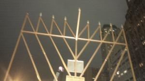 Chanukah Menorah on the 5th Avenue, NY city.