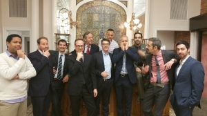 """The Halstead participants of """"Movember""""."""