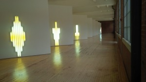 Monuments by the artist Dan Flavin.